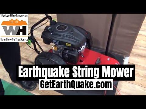 Repeat Field Edge - Earth Quake walk behind string trimmer