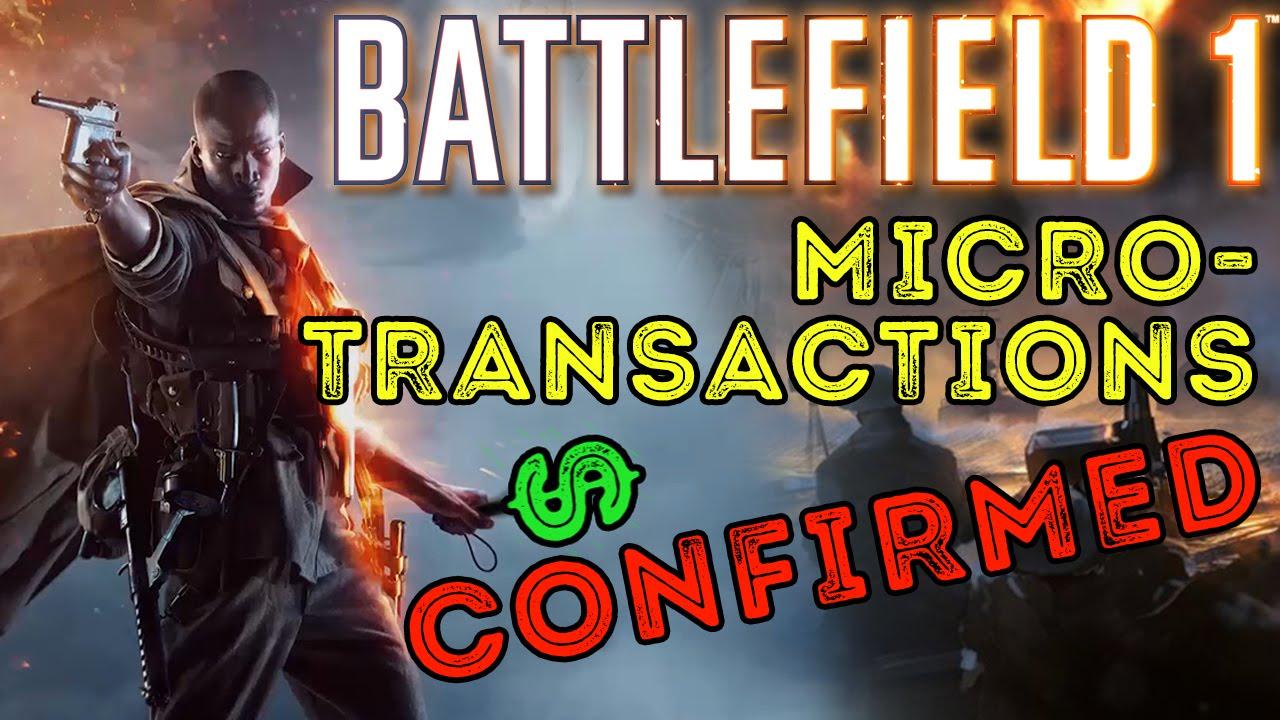 battlefield 1 microtransactions confirmed