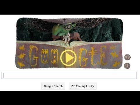 Google Homepage Game Halloween Witch Spell Binding On