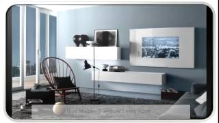 Blue Modern Furniture Living Room