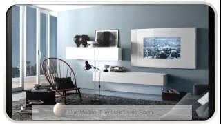 Blue Modern Furniture Living Room
