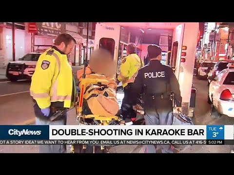 Double shooting in downtown karaoke bar