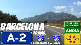 - autovía barcelona lleida/lérida (autovía del nordeste) , carretera de tramo en sentido decreciente (km 580) esparreguera a 550) jorba al oeste catalunya españa., ...