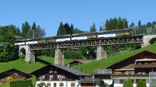 Swiss Golden Pass PanoramicTrain - Zweisimmen to Montreux and Chillon Castle