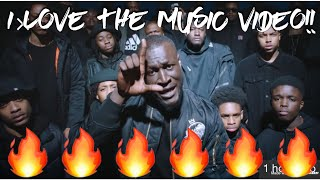 """FINALLY SOME NEW MUSIC!!! STORMZY """"VOSSI BOP""""  REACTION"""