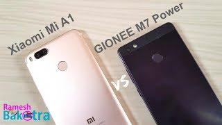 Gionee M7 Power vs Mi A1 Speed and Camera Comparison