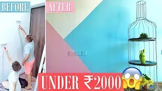 How to PAINT a room by YOURSELF on BUDGET! Pinterest Theme Transformation Under ₹2000! EP3| Heli Ved