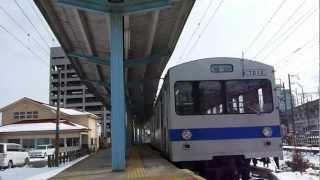 福島交通 飯坂線 曽根田駅 2012.02.28