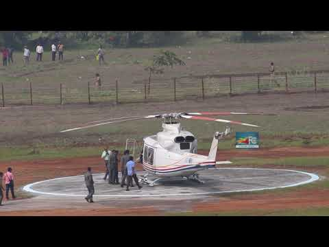Ap cm ys jagan royal helicopter entry at guntur || FILM CITY
