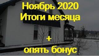 Продолжение эксперимента Итоги за ноябрь 2020 бонус