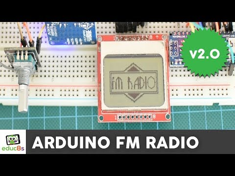 Arduino FM Radio project with a Nokia 5110 display and TEA5767 module.