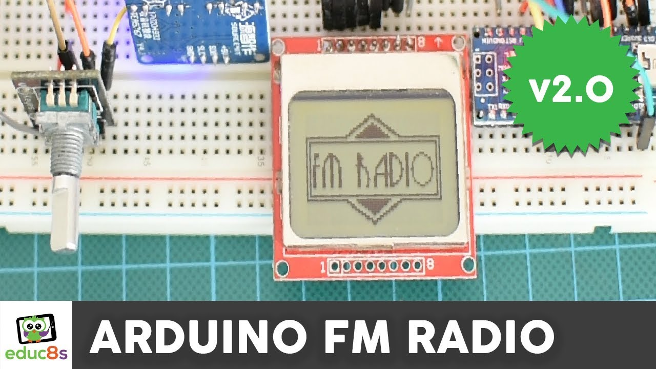 Simple Fm Radio Circuit With Speaker Electronic Projects T Receiver Diagram Tea5710 Design Arduino Project A Nokia 5110 Display And Tea5767 Module