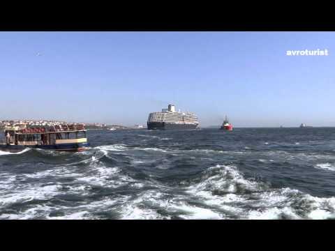 Cruise ships in Istanbul, Turkey (Bosphorus)