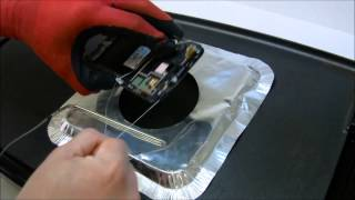 How to remove the Galaxy Note 2 Glass with a GRIDDLE!!! (No Audio)