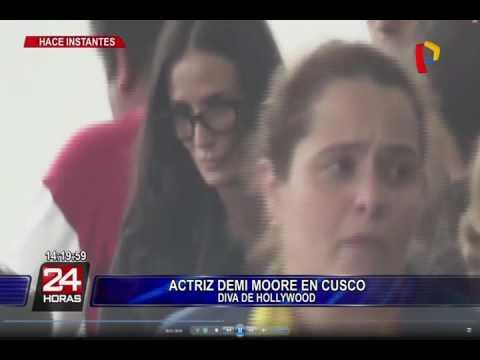 La famosa actriz Demi Moore arribó al Cusco (1/2)