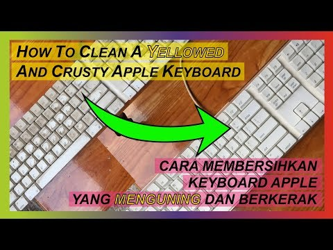 HOW TO CLEAN UP YOUR YELOW DUSTY APPLE KEYBOARD EASY #cleanup #apple #yellowed #applekeyboard