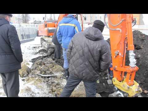 Газовая труба в Пензе была повреждена ковшом экскаватора