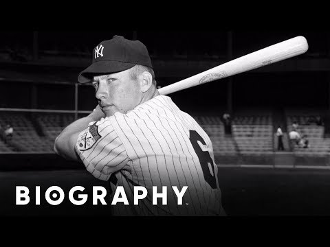 a biography of mickey mantle a baseball player