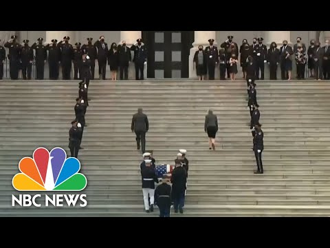 U.S. Capitol Police Officer Lies In Honor In Capitol Building   NBC Nightly News