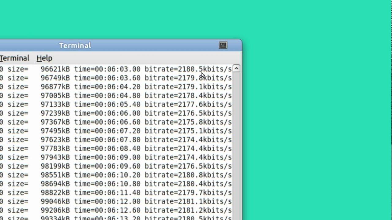 Ubuntu Basics FFMPEG video editing and cutting