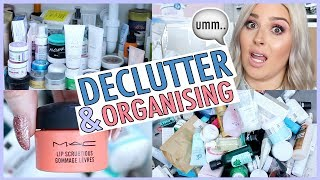 DECLUTTER MY BATHROOM WITH ME! ☠ Face Masks Galore!!!