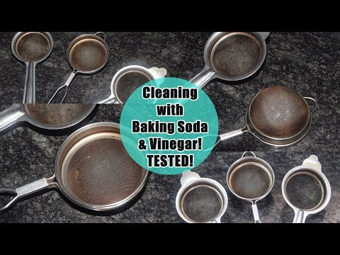 How to Clean Dirty Tea Strainer with Baking Soda & Vinegar | चाय चन्नी कैसे साफ़ करे | DIY Tested