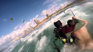 kitesurfer rescue from drowning HD