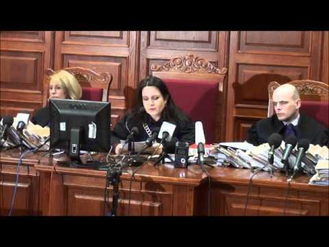 Migawki z sądu i ogłoszenia wyroku w sprawie twórców stanu wojennego