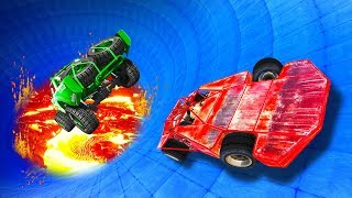 Survive The LAVA BOWL Derby! - GTA 5 Funny Moments