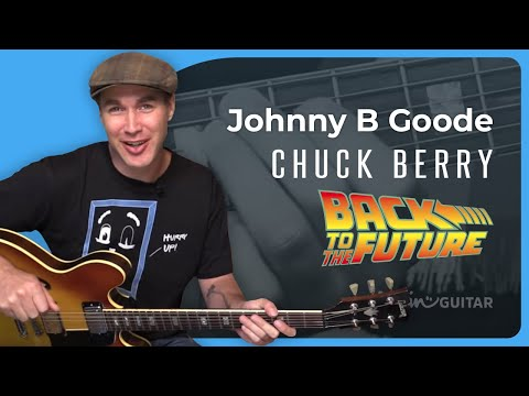 Johnny B Goode - Chuck Berry - Intro and Rhythm Guitar Lesson (SB-425) Back To The Future