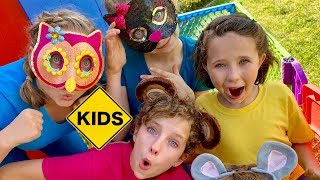 Pretend Play Backyard Petting Zoo with Sign Post Kids!