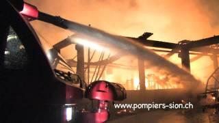 Incendie à la menuiserie Astori à Bramois