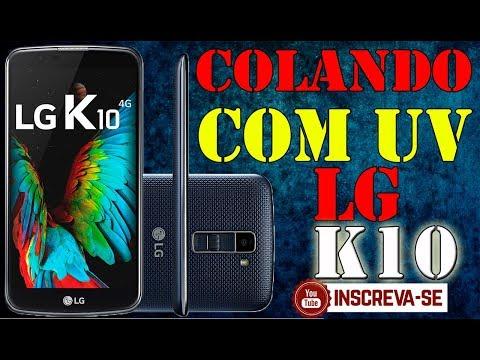 Troca só Vidro K10 COM COLA UV. Selagem e aplicação cola UV LG K10 (Parte 2)