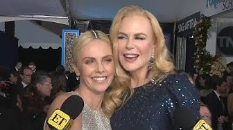 Watch Charlize Theron CRASH Nicole Kidman's Interview | SAG Awards 2020