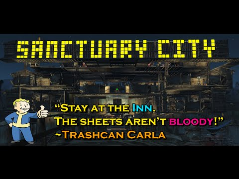 Fallout 4 - SANCTUARY CITY Settlement Attacked (PC Ultra 1080p 60fps)
