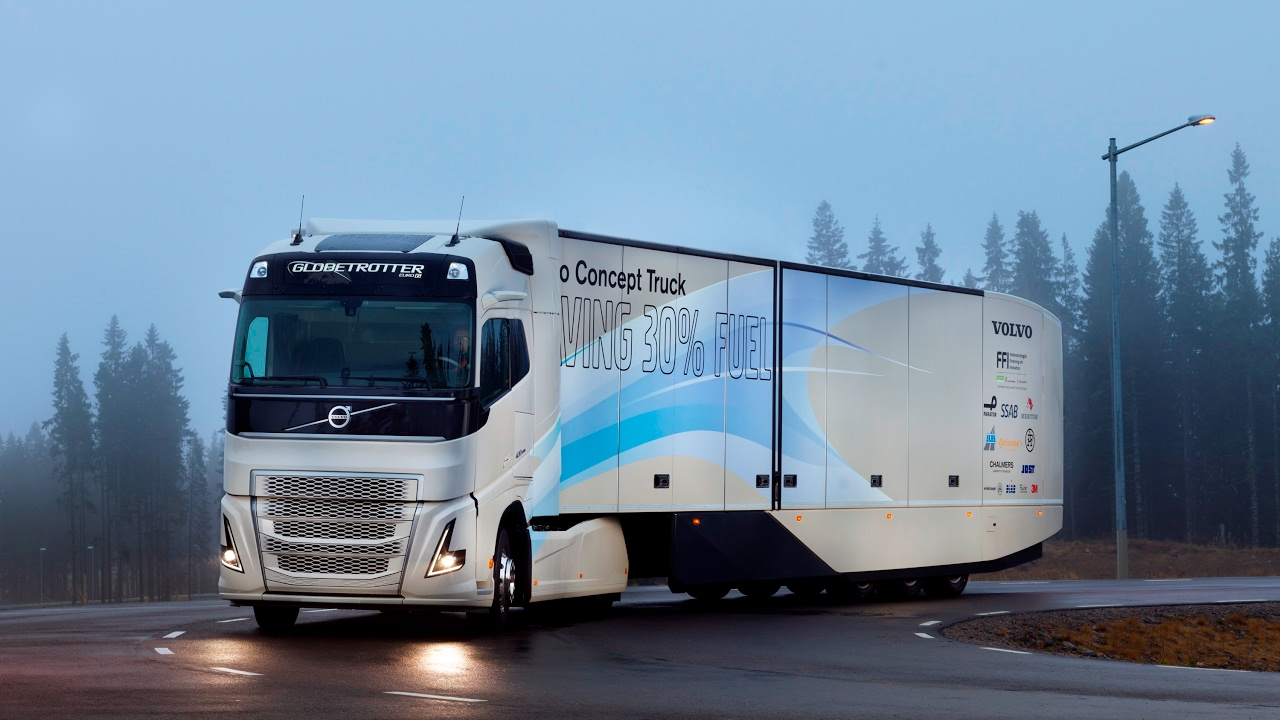 Volvo Trucks Introducing The Concept Truck Featuring A Hybrid Train