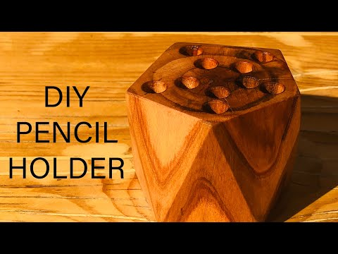 DIY Wooden Pencil Holder