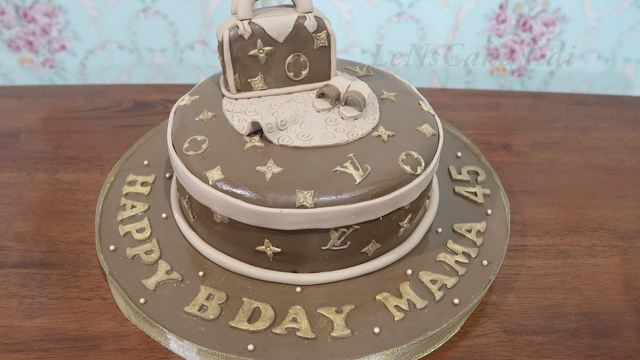 How To Decorating Happy Birthday Cake For Girls New Louis Vuitton Tart Simple