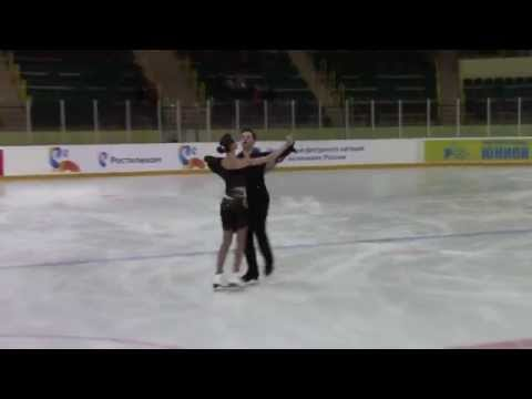 Rostelecom Crystal Skate 2015  Ice Dance, Advanced Novices  ПТ2 1 P  MISHCHANCHUK  U  ZAITSAU BLR