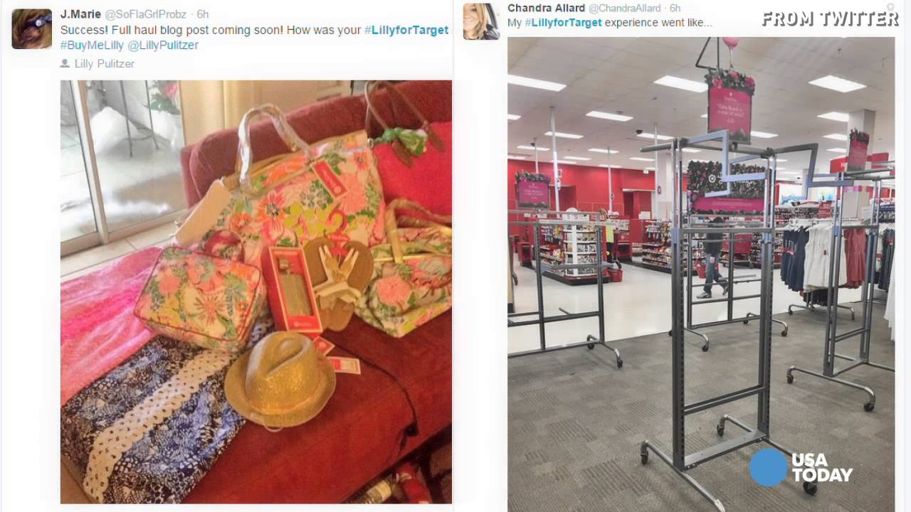 f98ef1be8e Lilly Pulitzer for Target causes shopping chaos - YouTube
