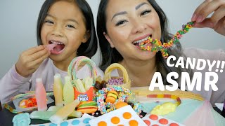 ASMR CANDY Party *Wax Bottle Nerd Rope Gummy & Papper Candy| N.E Let's Eat