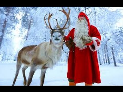 Rudolph the red nosed reindeer and santa are