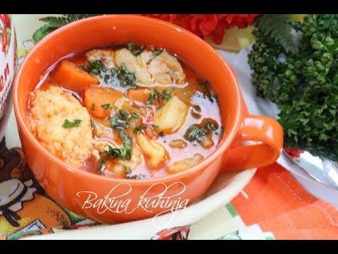 Bakina kuhinja - pileći paprikaš recept za mlade kuvarice