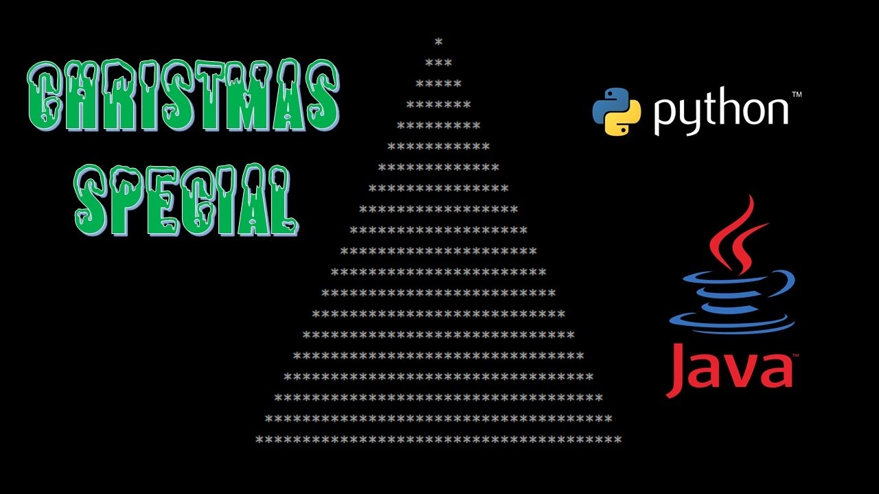 creating a christmas tree in python and java christmas. Black Bedroom Furniture Sets. Home Design Ideas