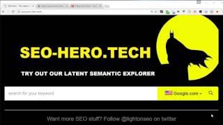 SEO Hero - [EN] SEO Tool for Content Optimization