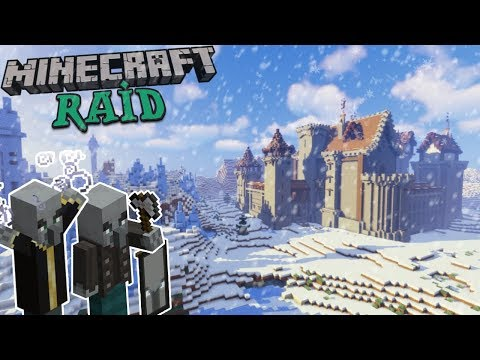 Defending My Medieval Castle From A Pillager Raid! | Minecraft Timelapse [Facecam]