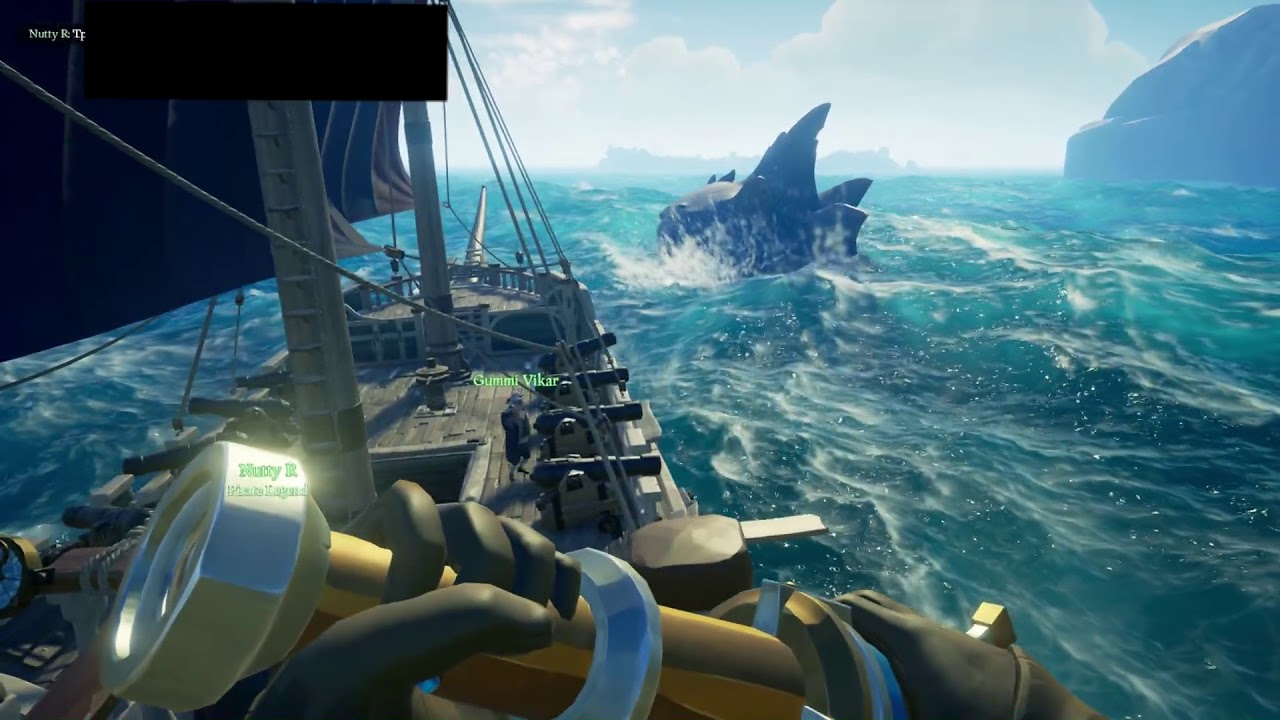 Friend or Foe: The Megalodon  Sea of Thieves #Sharkweek #SoTShot