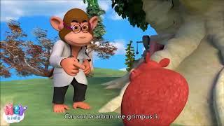 Mókuska, mókuska felmászott a fára – Esperanto – subteksto