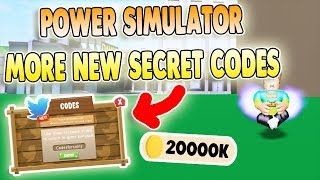 * MEHR 5 SECRET CODES * POWER SIMULATOR CODES ROBLOX