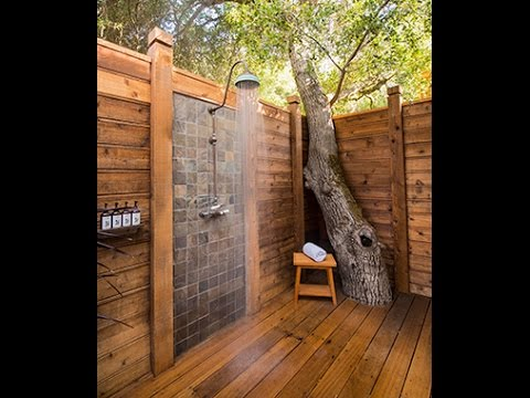 outdoor shower design ideas youtube. Black Bedroom Furniture Sets. Home Design Ideas